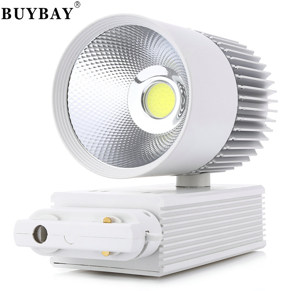 Track Light 30W COB Ceiling Rail lights For Pendant Kitchen Clothes Shop Shoes Store Equal 300W Halogen Lamps Spot Lighting led track light50wled exhibition hall cob track light to shoot the light clothing store to shoot the light window