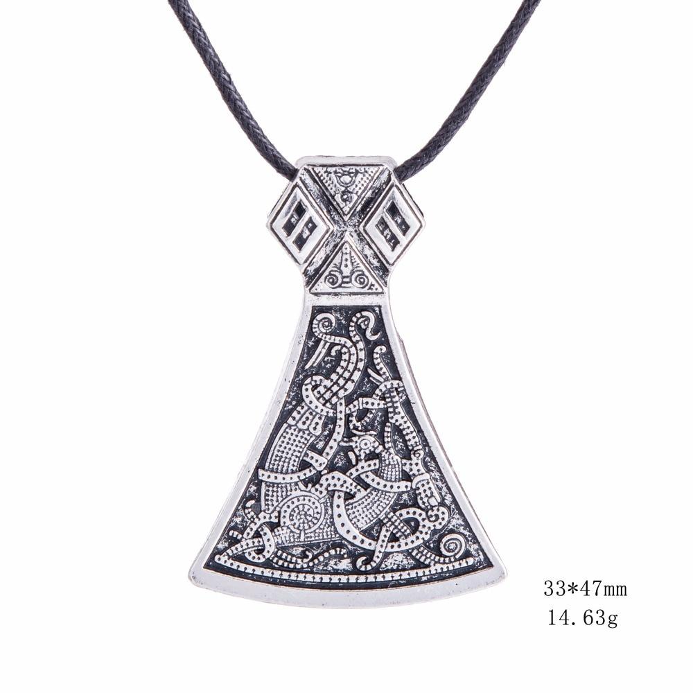 Dawapara Viking Axe Privjesak Ogrlice Nakit Mammen Goth Muški - Modni nakit - Foto 4