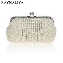 2017 Fashion Socialite Pearl Beading Evening Bag Bridal Wedding Party Clutch Purse Mini Chain Hand Bags Day Wallet SFX-A0221 2016 fashion personalized eye evening hand bag acrylic eyeball catwalk clutch girls funny party mini chain bags bolsos xa729h
