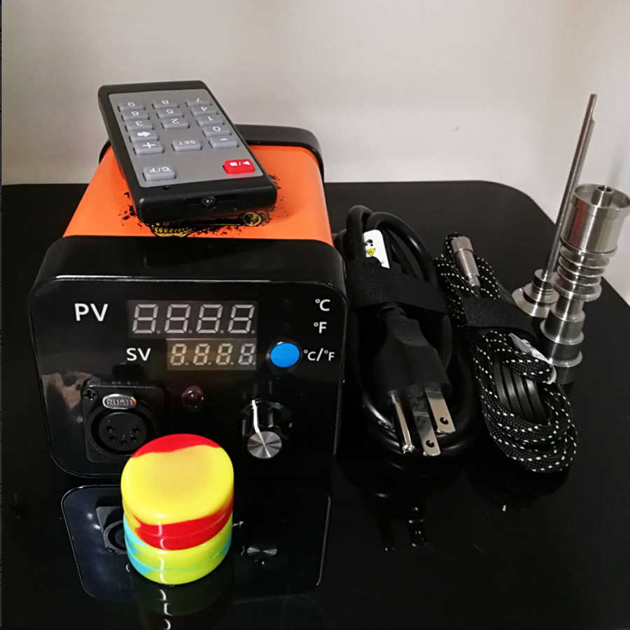 Electronic Portable Dab Rigs ENail Wax Pen Electric Dab Nail Box Kit Temperature Controller for 10/16/20mm coil Rig glass Bongs