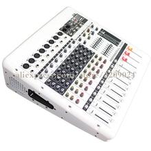 Pro Power Amplifier 8 Channel Mixer Karaoke Bluetooth USB PC Record Live Studio Audio Microphone Mic