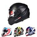 2016 Nuevo 100% Genuino ls2 Casco con Anti niebla edición sticker racing capacete casco de la motocicleta doble visera FF328