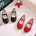 2017 new fashion party girls shoes crianças bebê crianças menina princesa sapato de couro primavera outono tamanho 21 ~ 36 para 2 ~ 15 anos vermelho