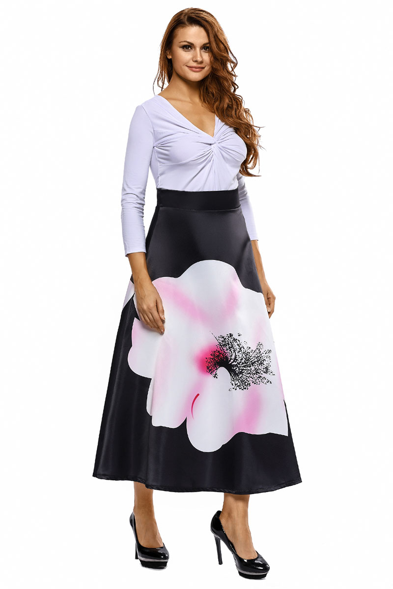 Big-Flower-Print-Black-High-Waist-Maxi-Skirt-LC65017-2-6