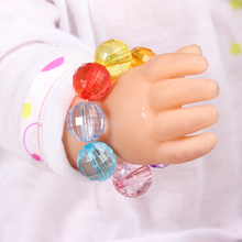 2017 New Doll Accessories Mixed Color Crystal Beads Bracelet Fit For Americal Girls 43cm Doll Baby