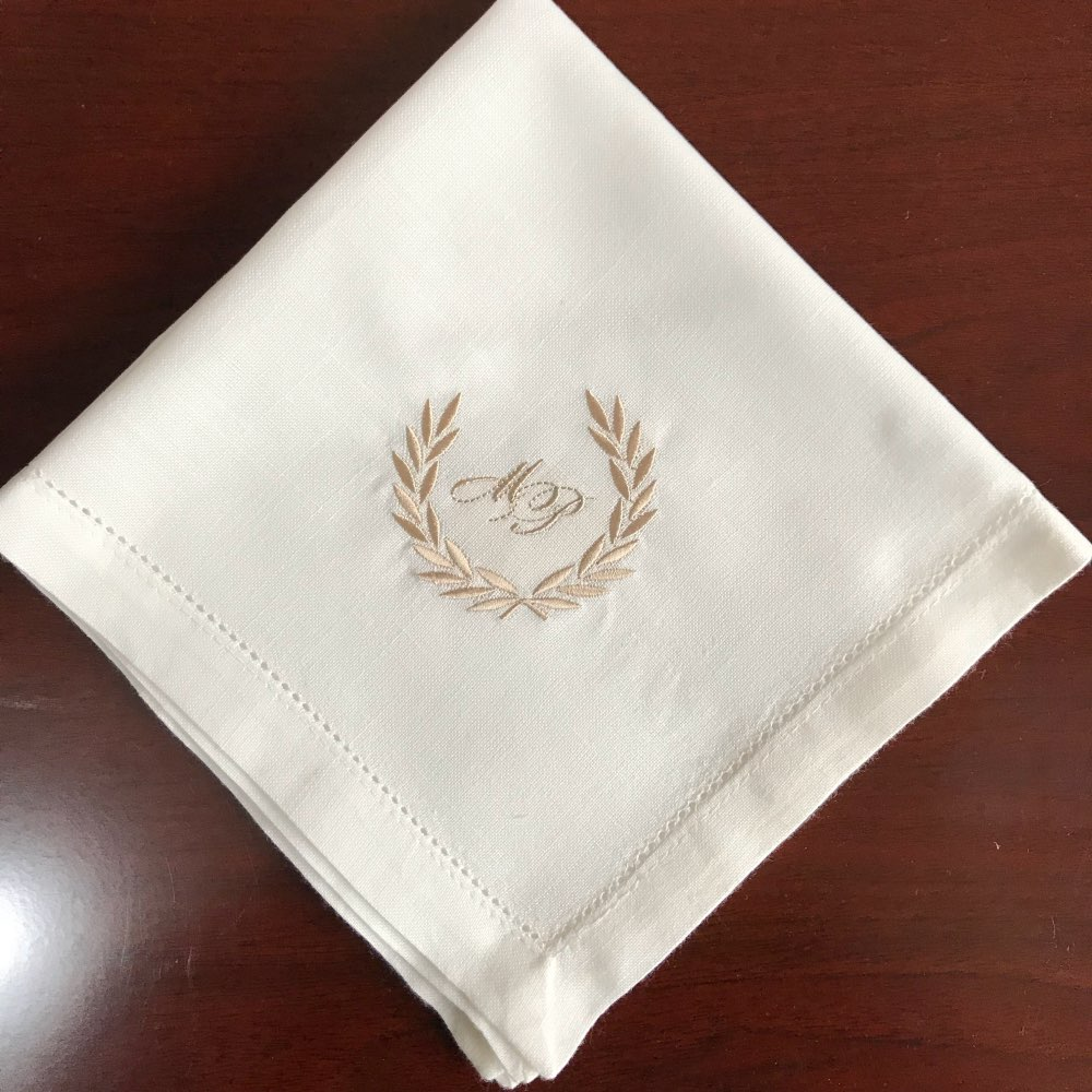 Personalized Napkins White napkins, custom dinner napkin ...