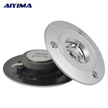 Aiyima 2Pcs Audio Speaker Portable 4Ohm 10W HI FI Tweeter HI FI Titanium Film Bebas Oksigen Tembaga Coil Stereo kotak Suara Speaker(China)