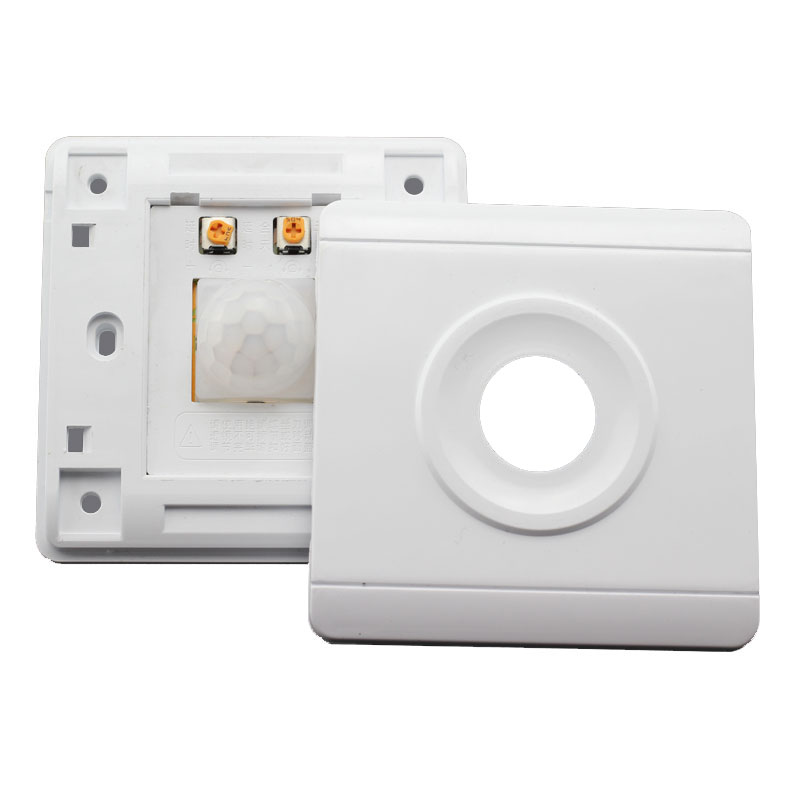 IR Switch Infrared LED Body IN and Out Motion Sensor Switches Light Adjustable Light Control for Stairs Garage Wall Mounting