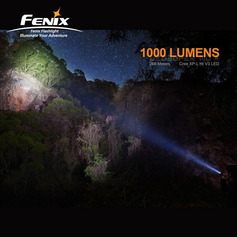 Image 4 - Micro USB Rechargeable FENIX UC35 V2.0 LED 1000 Lumens Tactical Compact Flashlight with 3500mAh Li ion Battery-in Flashlights & Torches from Lights & Lighting