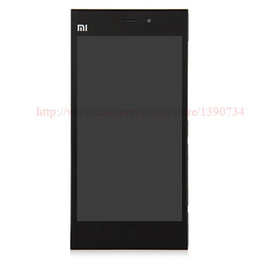 ФОТО 100% GOOD Working LCD Display + Touch Screen Digitizer Assembly With Frame/Bezel For Xiaomi m3 mi3 xiao mi WCDMA Free shipping