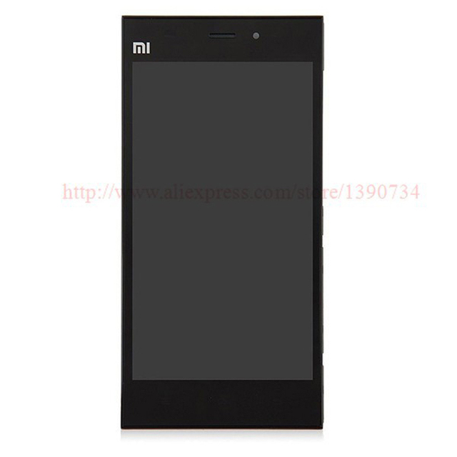 100% GOOD Working LCD Display + Touch Screen Digitizer Assembly With Frame/Bezel For Xiaomi m3 mi3 xiao mi WCDMA Free shipping