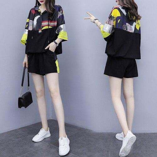 Grande taille tenues survêtement pour femmes Sportswear femmes 2 pièce ensemble pantalons et haut grande taille femmes survêtements vêtements décontractés