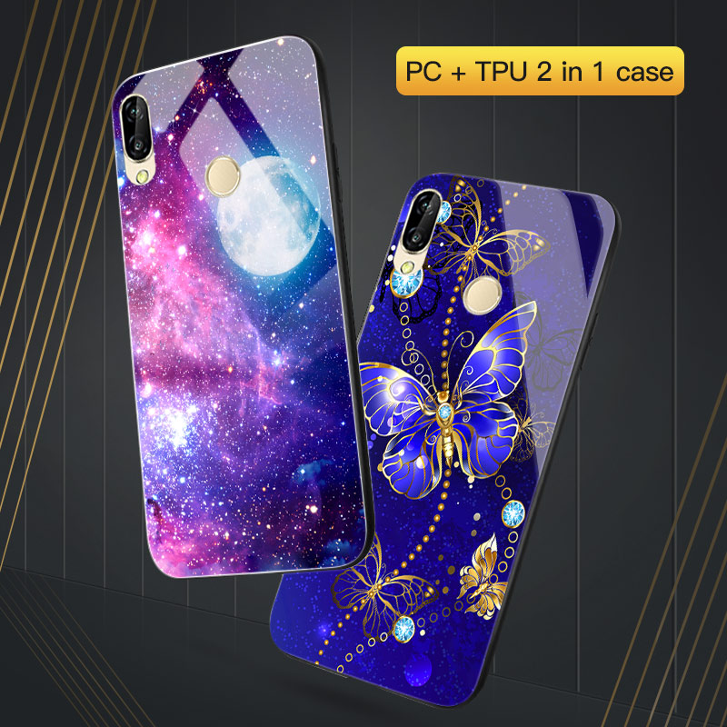 For <font><b>Huawei</b></font> P Smart <font><b>2019</b></font> <font><b>Case</b></font> Y5 Lite 2018 Y6 <font><b>Y7</b></font> Prime PRO Back <font><b>Cover</b></font> Hard PC TPU Black <font><b>Coque</b></font> For <font><b>Huawei</b></font> PSmart Plus NOVA 3i 3e 2i 4e <font><b>Case</b></font> image