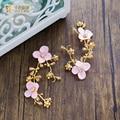 1 PC cor de ouro de Luxo Presentes de casamento da noiva flor headpiece hairwear ganchinhos hairclips strass cristal acessórios de baile sz