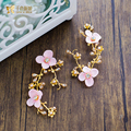 1PC Luxury gold color hairgrips rhinestone hairclips crystal hairwear bride flower headpiece Gifts wedding prom accessories sz