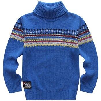 Heiße Verkäufe Frühjahr und Herbst 100% Baumwolle Jungen Pullover Pullover Grund Rolli Kind Gestrickte Pullover für Kinder 4- 15 jahre