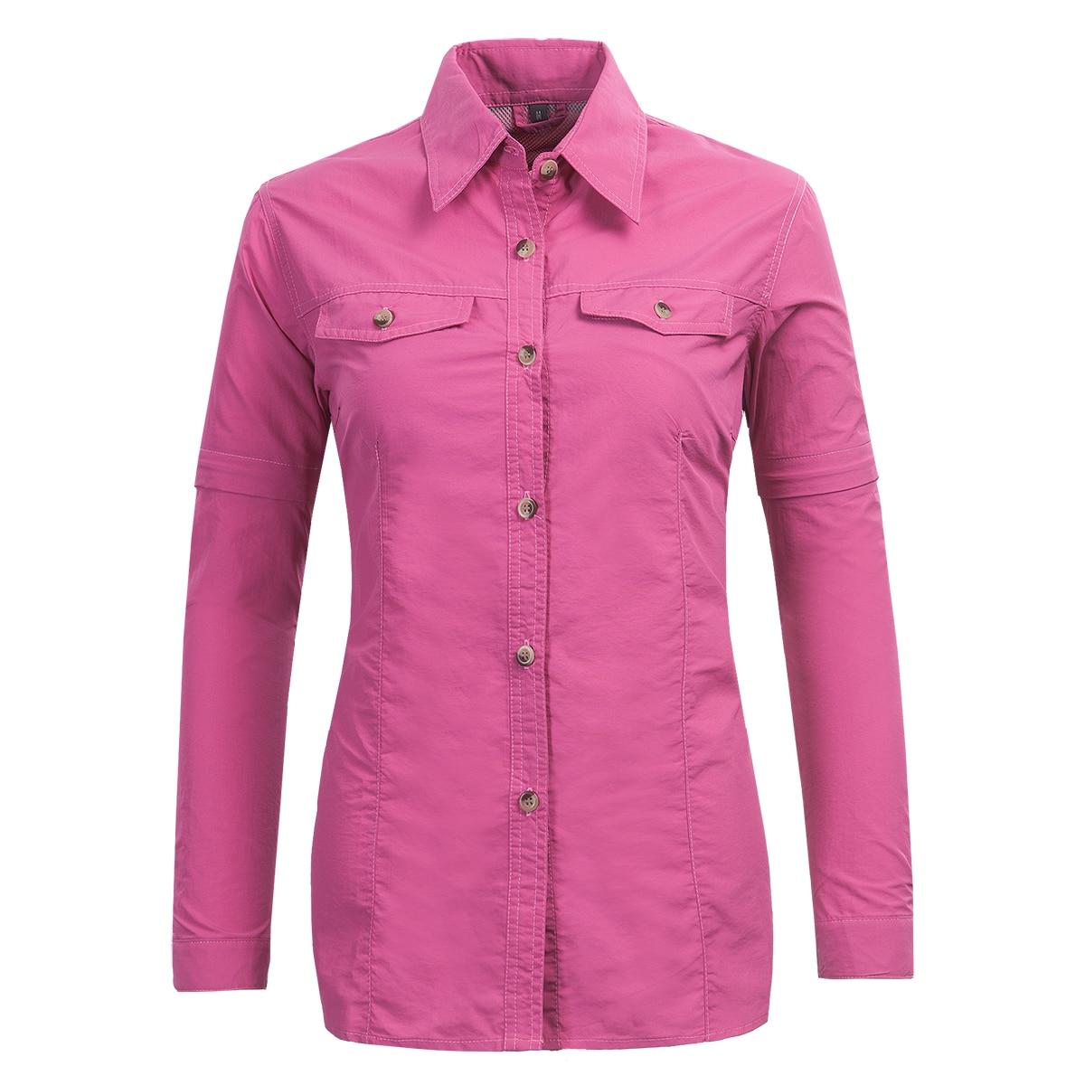 New Suncreen Detachable Sleeves Sport Fishing Clothing Camping Women Hiking Shirt Anti-uv Climbing Trekking Quick Dry Camisetas