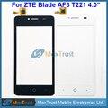 """De Calidad superior 4.0 """"para zte blade af3 t221 a5 a5 pro pantalla táctil del sensor del panel digitalizador de vidrio frontal negro color blanco"""