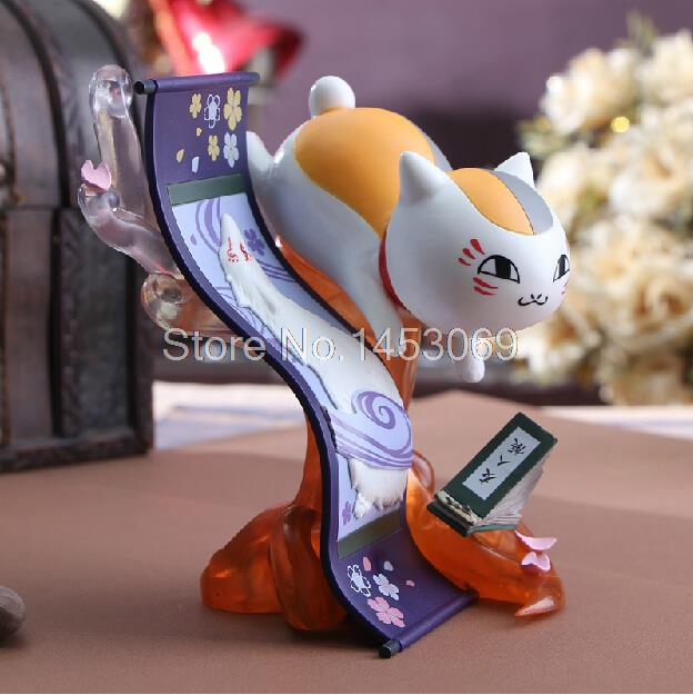 Natsume Yuujinchou Nyanko Sensei Cat PVC Action Figure Collection Model Toy Doll 15cm JP027 new hot 16cm natsume yuujinchou cat nyanko sensei action figure toys collection christmas gift