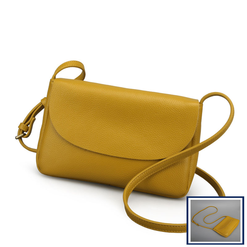 Fashion new simple high-quality Calfskin crossbody bags for women Crossbody Bags soft Litchi Women Genuine Leather shoulder bag стоимость