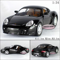 Candice guo! Hot sale Super cool 1:34 mini Cayman sports car alloy model car toy good for gift 1pc