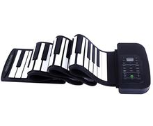 Free shipping!88Keys Roll Up silicone piano with 140 tones,128 rhythms,30 Demo songs Roll-Up Soft keyboard piano(Black)