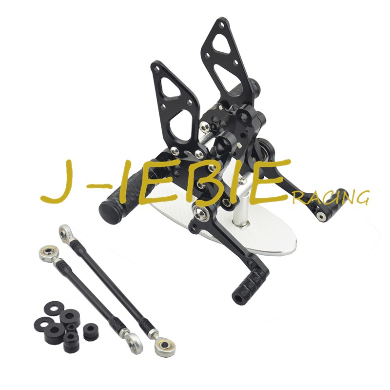 CNC Racing Rearset Adjustable Rear Sets Foot pegs Fit For Ducati 848 1098 1198 R/S R S BLACK cnc racing rearset adjustable rear sets foot pegs fit for ducati streetfighter 848 1098