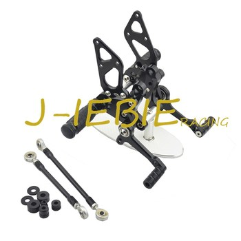 CNC Racing Rearset Adjustable Rear Sets Foot pegs Fit For Ducati 848 1098 1198 R/S R S BLACK