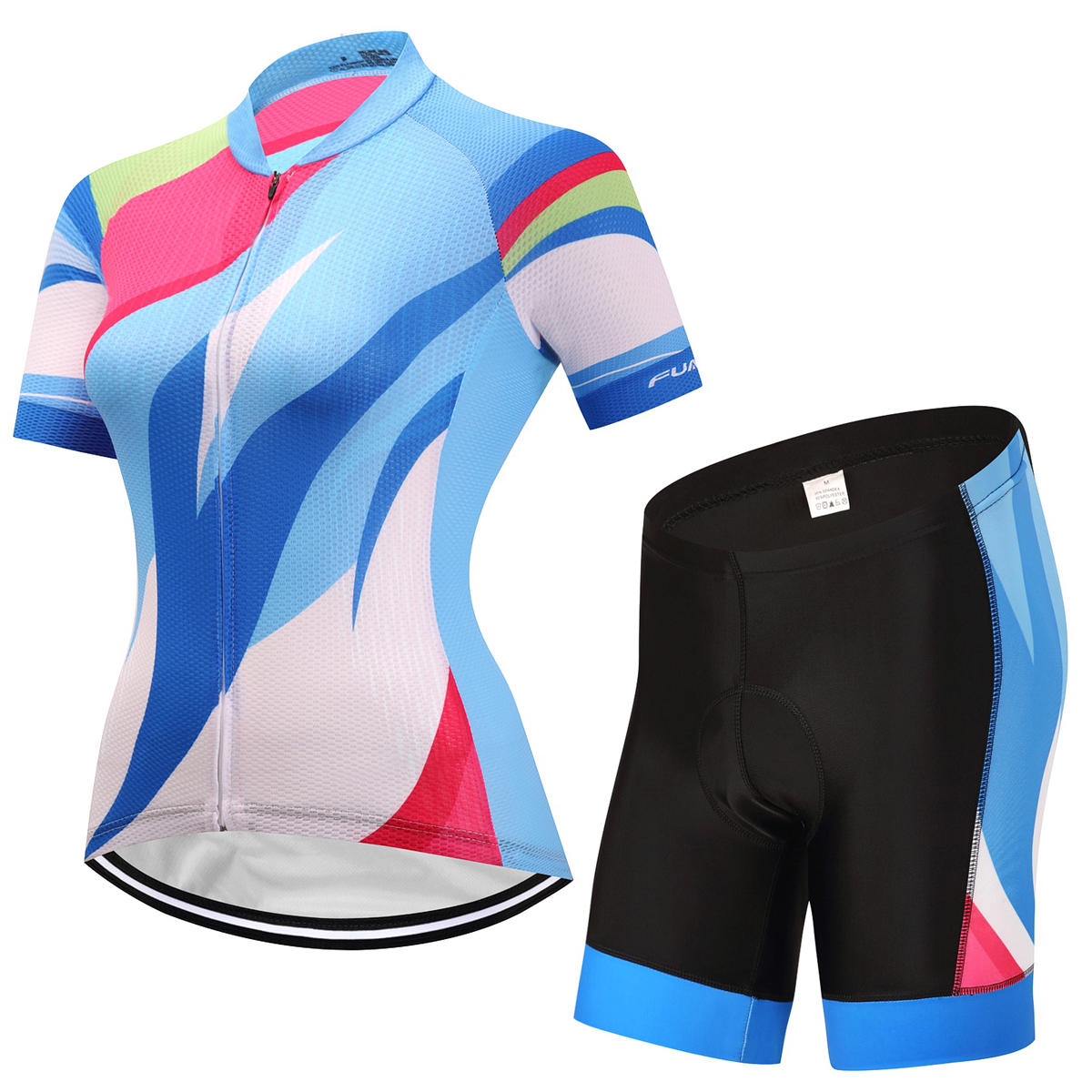 FUALRNY Elroy Quick-Dry Summer Women MTB Bike Cycling Clothing Breathable Bicycle Clothes Ropa Ciclismo UV Cycling Jersey Set