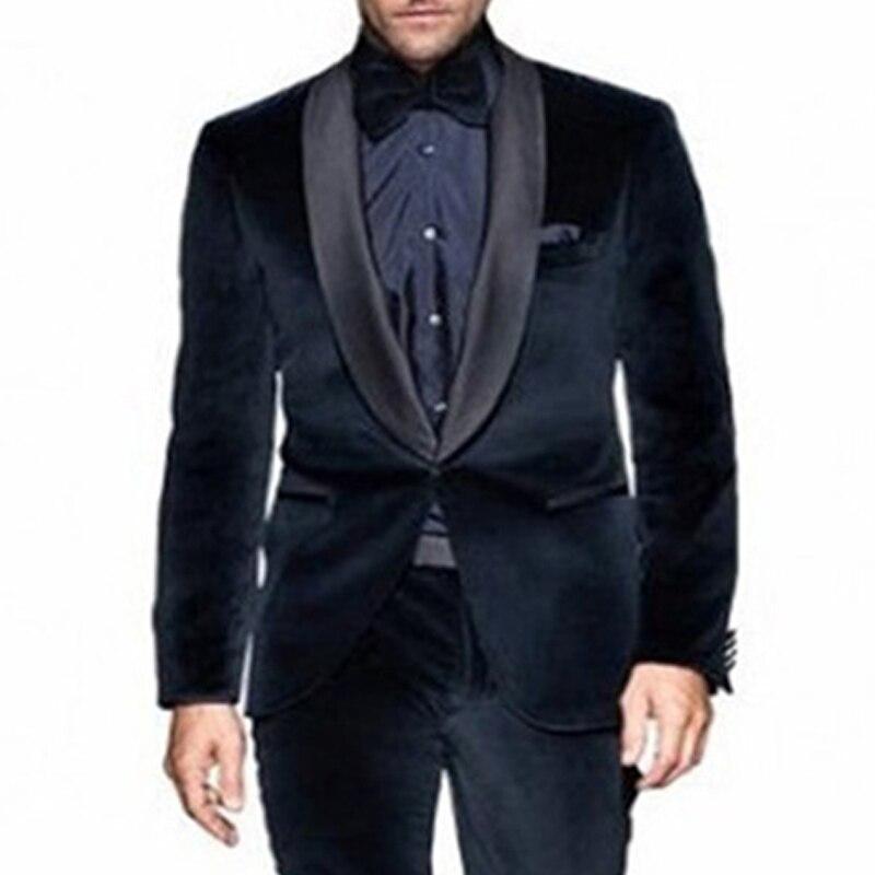 Pièces Trim Fit Vêtements Marié Bleu Image Marine Châle Smokings Deux De Revers Pantalon Les Same Hommes Soirée As Mariage Noir Veste Costumes Pour Bal Velours w8OmNyv0n