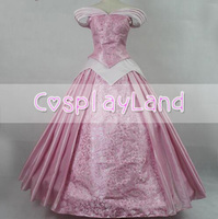 Sleeping Beauty Princess Aurora Cosplay Costume Pink Printing Aurora Dress Princess Rose Carnival Halloween Costume Adult