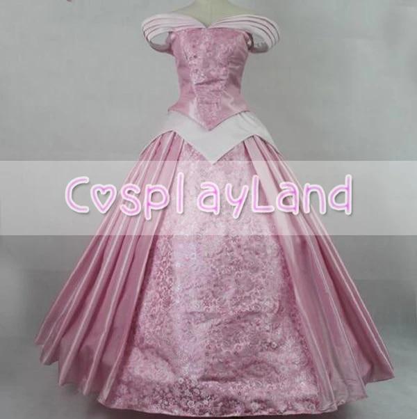 Dormir Beaute Princesse Aurore Cosplay Costume Rose Impression Aurore Robe Princesse Rose Carnaval Halloween Costume Adulte Femmes Aliexpress
