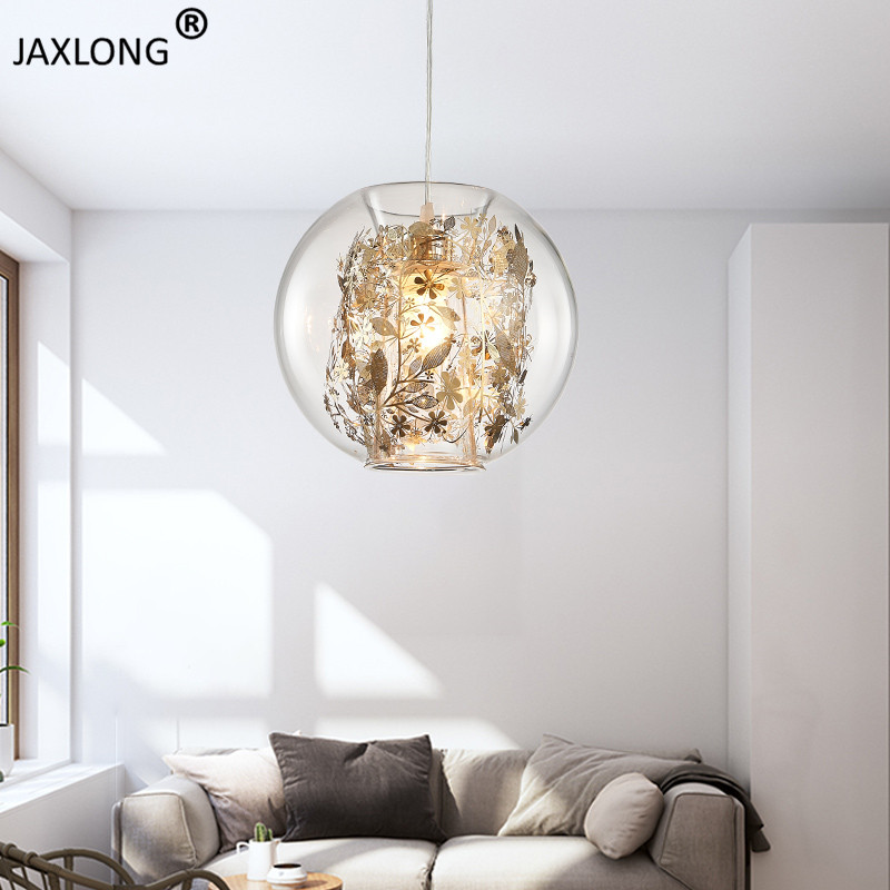 Nordic Style Transparent Glass Pendant Lamp Modern Novelty Home pendant lights Living Room Bedroom Warm Lighting Light FixtureNordic Style Transparent Glass Pendant Lamp Modern Novelty Home pendant lights Living Room Bedroom Warm Lighting Light Fixture