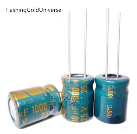 20pcs 25V 1000UF 1000UF 25V 1000uf 25v 25v 1000uf   Electrolytic Capacitors Size: 10*13