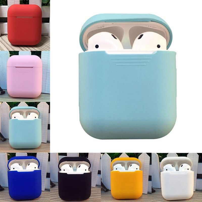 100% Fitting Soft Silicone Case For A^^pple Airpods Shockproof Cover For AirPods Earphone Cases Protector Case Newest On Stock