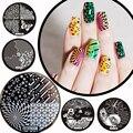 1 Unids Nails Art Manicura Plantilla Sello DIY Flor de Clavo Que Estampa Las Placas de Imagen Animal de la Estrella del Diseño 2017 de la Nueva Llegada
