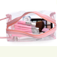 MIWIND Free Ship Environmental Protection PVC Transparent Cosmetic Bag Clear Waterproof Makeup Storage Pounch Lady TTS1021