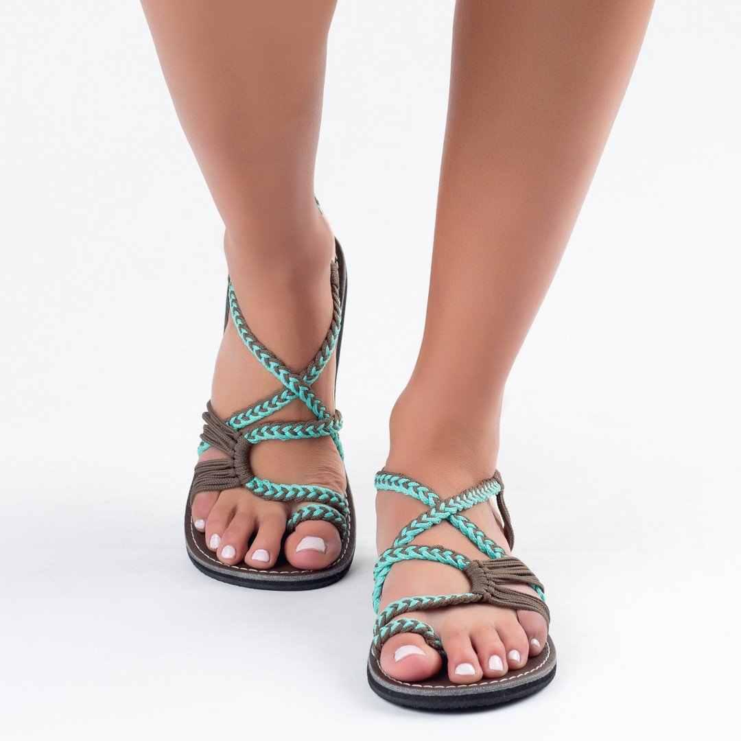 MoneRffi Vrouwen Strand Outdoor Sandalen Ademende Wearable Slippers-Flop Thong Slipper Gebreide Cross Teen Zomer Sandalen 2019