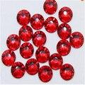 Super brilhante 1440 p ss6 2 mm strass Hotfix não escuro cristal vermelho escuro Siam pedrinhas para unhas 3D Nail Art decoração DIY Bead