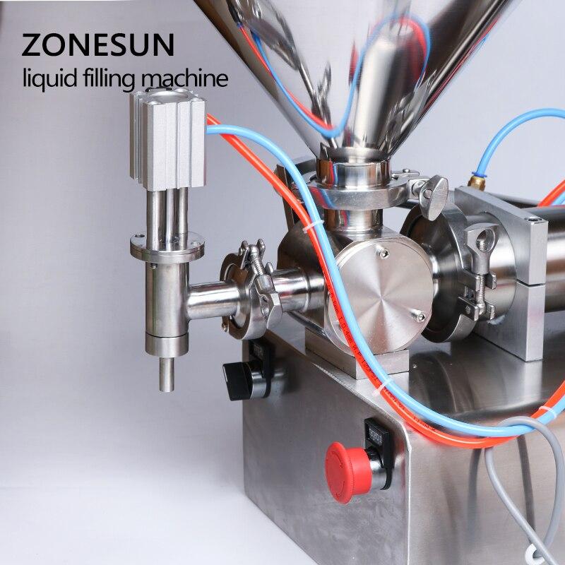 Image 4 - ZONESUN 10 300ml Pneumatic Volumetric Softdrin Liquid Filling Machine Pneumatic Liquid Filler Liquid Honey Soap  bottlemachine machinemachine fillingmachine for -