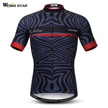 цена на Weimostar 2019 Bike Team Cycling Jersey Men Summer Breathable Bicycle Clothing Maillot Ciclismo Quick Dry MTB Bike Jersey Shirt