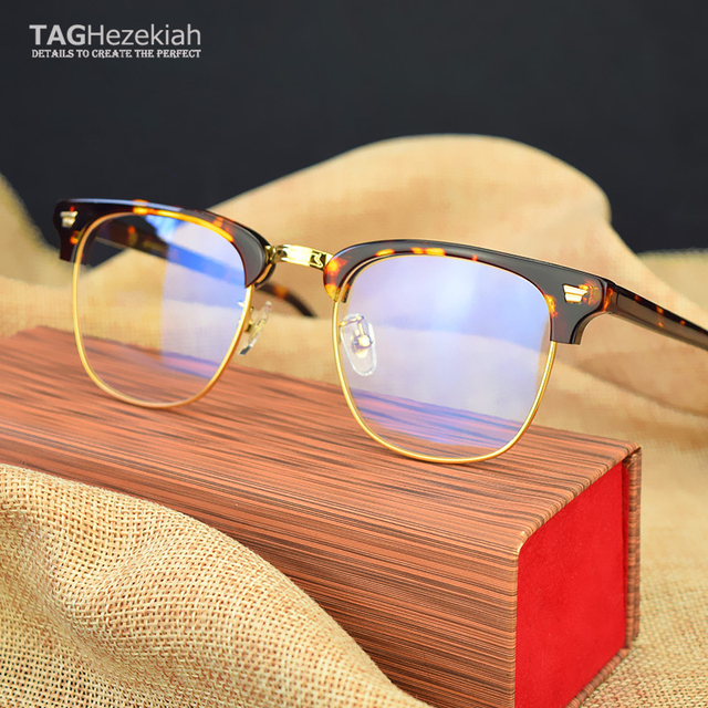 c01a33864a 2019 Vintage optical glasses brand Myopia reading Glasses Frame Men   Women  Retro Eyeglasses frame oculos