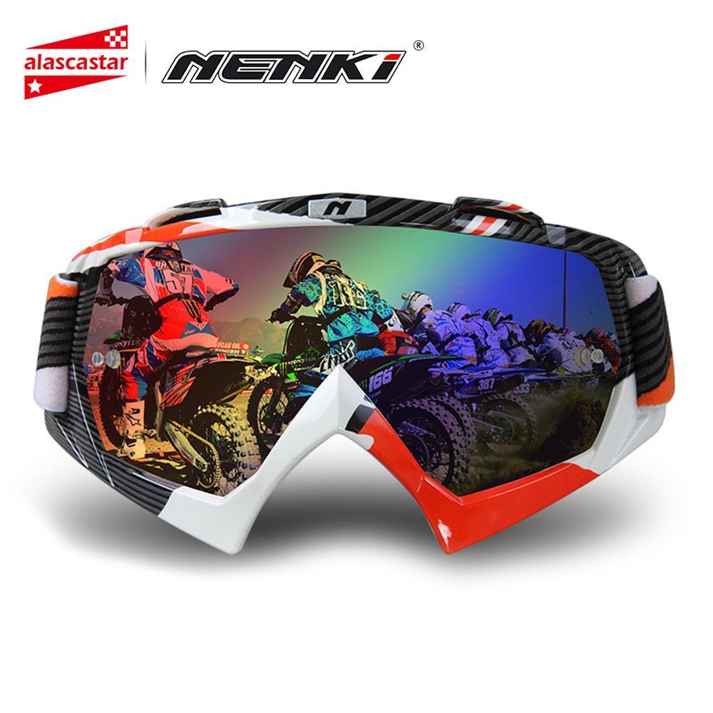 bb508687be NENKI Motocross Off Road ATV MX Dirt Bike Downhill DH Eyewear Men Women Ski  Snowboard Glasses Motorcycle Googles. Colorful Lens-in Motorcycle Glasses  from ...