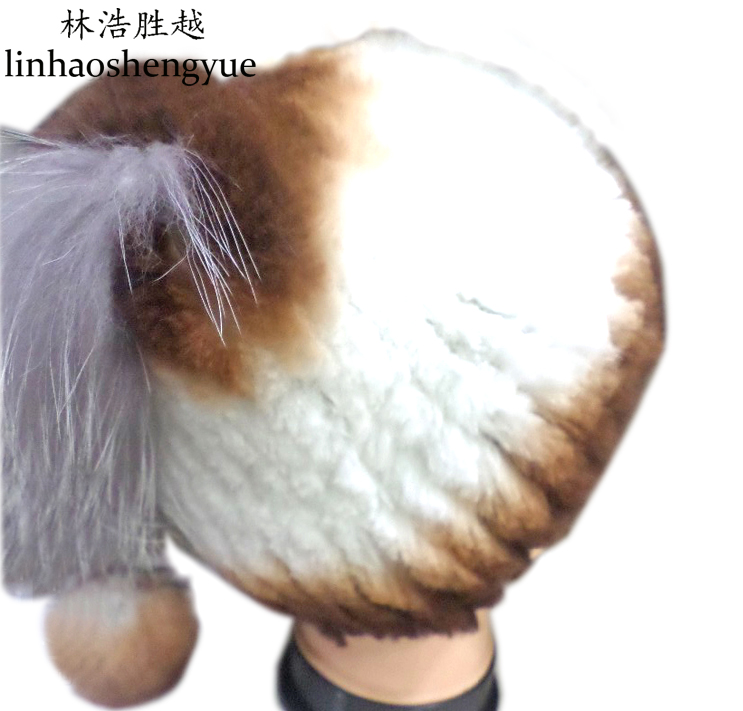 ФОТО Linhaoshengyue In Europe and the latest rabbit fur hats real fur winter warm fashion hat freeshipping