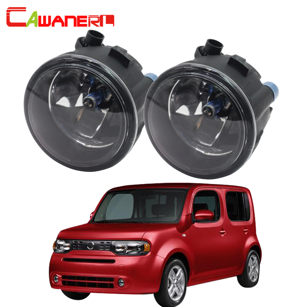 Cawanerl 2 X 100W H11 Car Accessories Halogen Fog Light DRL Daytime Running Lamp 12V For Nissan Cube Z12 Hatchback 2010-2014 cawanerl 2 x car led fog light drl daytime running lamp accessories for nissan note e11 mpv 2006