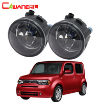 Cawanerl 2 X 100W H11 Car Accessories Halogen Fog Light DRL Daytime Running Lamp 12V For Nissan Cube Z12 Hatchback 2010 2014