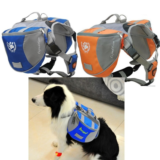 Outdoor Adjule Pet Dog Bag Large Saddle Capacity Backpack With Pu And Air