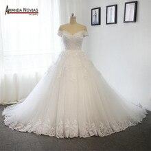 Новая модель 2019 свадебное платье с открытыми плечами и длинным шлейфом 100% реальные фотографии