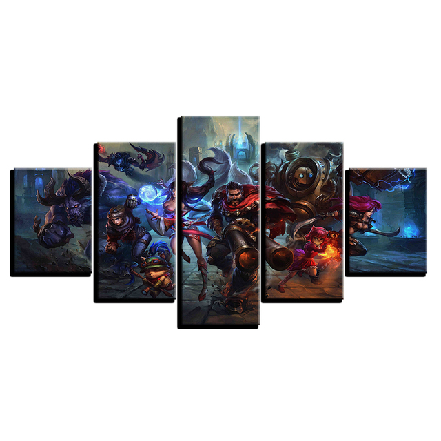 5 Piece Painting Print Game Poster Living Room Modular Canvas Picture Wall Art Home Decor 3