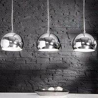 Modern Furnishing Elegant Pendant Lamp Hanging Lamp Silver Colors Lampshades Metal Pendant 3 Flames, Chrome Finish 3 * E27